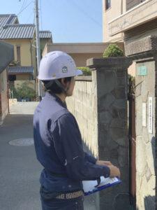 自社施工の蓄電池駆け込み寺 ~ 近隣挨拶でご近所の方への配慮も忘れません