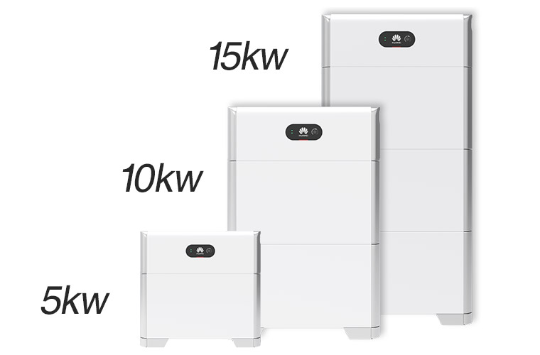 5kWh刻みで選べる蓄電容量。設置後でも蓄電容量を増設可能