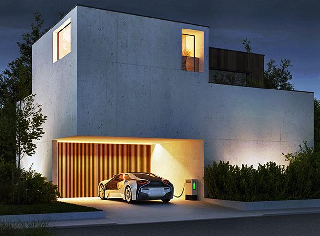 万が一の停電時は太陽光発電と電気自動車でご自宅の電気をバックアップ