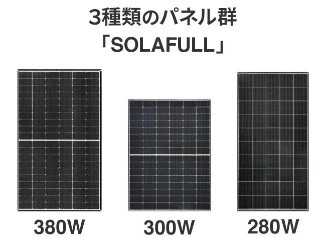 限られた設置スペースを最大限活用する3種類のパネルサイズ「SOLAFULL(ソラフル)」で発電量を最大化